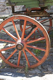 Vintage - Wooden Wagon Wheel Stock Photo