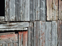 Vintage wooden wall decay. Old wooden building in a very bad condition Stock Photography