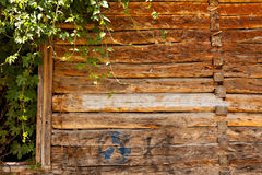 Vintage wooden wall Stock Image