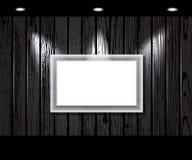 Vintage Wooden Wall With A Spot Illumination. Stock Photos