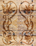 Vintage wooden wallpaper Stock Image