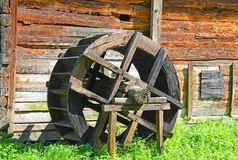 Vintage wooden water mill Royalty Free Stock Photography