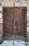 Vintage wooden weathered door Stock Image