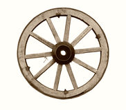 Vintage wooden wheel Stock Photos