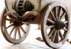 Vintage Wooden Wheel. The closeup of  vintage wooden wheel Royalty Free Stock Photos