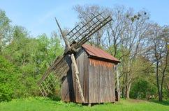Vintage wooden windmill Stock Photos