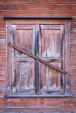 Vintage wooden window on old wall Royalty Free Stock Image