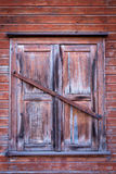 Vintage wooden window on old wall Stock Photos