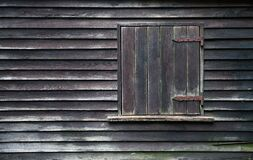 Free Vintage Wooden Window Shutters On Side Of Old Farm Barn Royalty Free Stock Images - 195399089