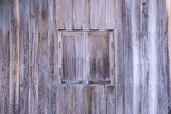 Vintage wooden window with wooden wall Stock Photography
