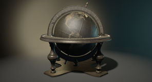 Vintage Wooden World Globe Royalty Free Stock Photo