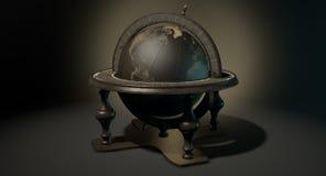 Vintage Wooden World Globe Stock Images
