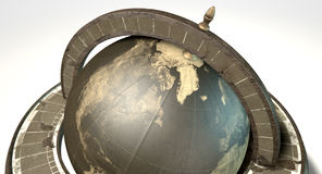 Vintage Wooden World Globe Royalty Free Stock Images