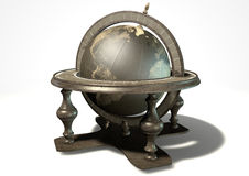 Vintage Wooden World Globe Royalty Free Stock Photos