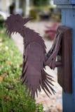Vintage woodpecker door knocker Stock Images