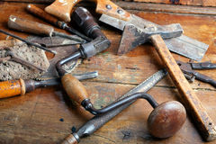 Vintage woodworking tools Stock Image