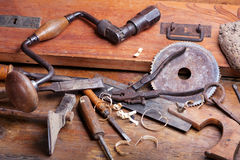 Vintage Woodworking Tools Royalty Free Stock Photography