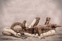 Vintage woodworking tools, stylized hdr image Stock Image