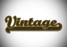 Vintage word Stock Photo