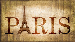 Vintage word Paris Stock Image