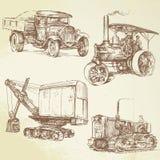 Vintage work vehicles Stock Photo