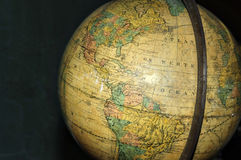 Vintage World Globe. This image is of a vintage world globe Royalty Free Stock Image