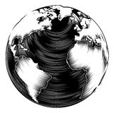 Vintage world globe Stock Photos