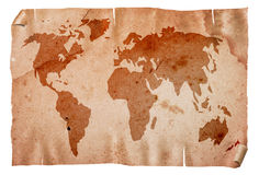 Vintage world map. Royalty Free Stock Images
