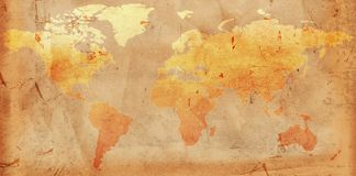 Free Vintage World Map Royalty Free Stock Images - 24548899