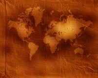 Vintage world map. 2D art Stock Photo