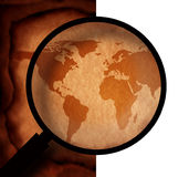 Vintage world map Stock Images