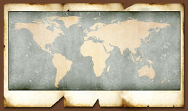 Vintage world map Royalty Free Stock Photography