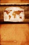 Vintage world map. 2D digital art Royalty Free Stock Image