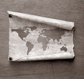 Vintage world map. 2D art Royalty Free Stock Photography
