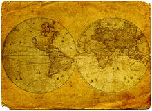 Vintage world map. Stock Image