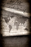 Vintage world map. 2d art Royalty Free Stock Images