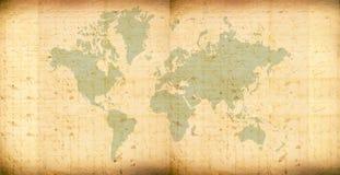Vintage world map. 2D art Stock Images
