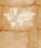 Vintage world map. 2D art Royalty Free Stock Photos