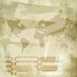 vintage world map background Stock Photo