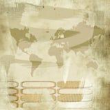 Vintage world map background Stock Photo