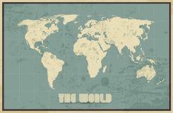 Vintage World Map background Stock Photos