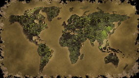 Vintage world map burn Royalty Free Stock Photos