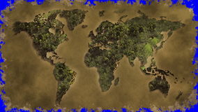 Vintage world map burn Royalty Free Stock Image