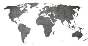 Vintage world map -  old texture background Stock Photos