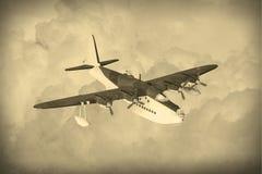 Vintage World War 2 flying boat Stock Images