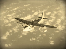 Vintage World War 2 flying boat Royalty Free Stock Images