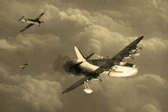 Vintage World War 2 flying boat Stock Photography