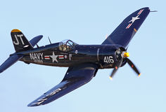 Vintage World War II Corsair Fighter Stock Images