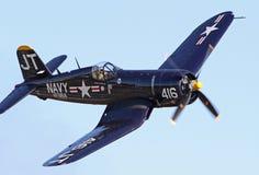 Vintage World War II Corsair Fighter stock images