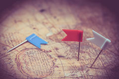 Vintage worldmap and discovery Royalty Free Stock Photo
